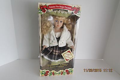 """Collectors Choice Genuine Fine Bisque Porcelain 16"""" Doll Very Rare New In Box"""