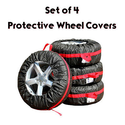 "4 x High Quality Car Spare Tyre Wheel Cover Bag Storage Space Saver 13""-18"""