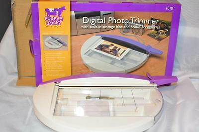 "Purple Cows 9"" Digital Photo Trimmer 1010 w/Built-In St Brand NEW"