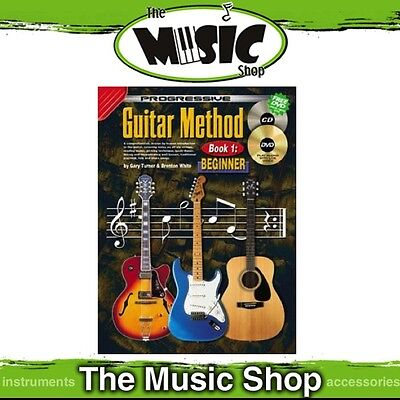 New Progressive Guitar Method Book 1 for Beginners Book with CD & DVD