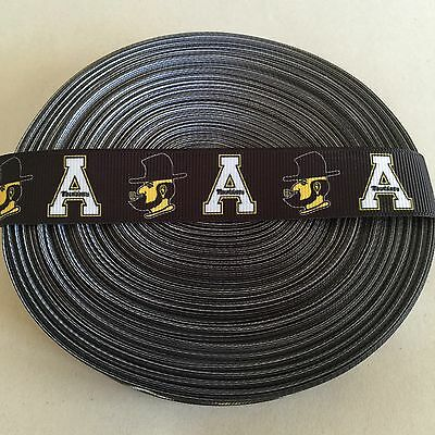 "7/8"" Appalachian State Mountaineers Grosgrain Ribbon by the Yard (USA SELLER!)"