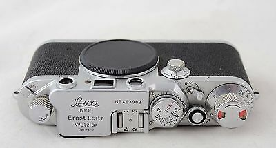 Leitz Leica IIIc DRP, vintage 35mm camera body, red dial, No.463982, 1948-1949