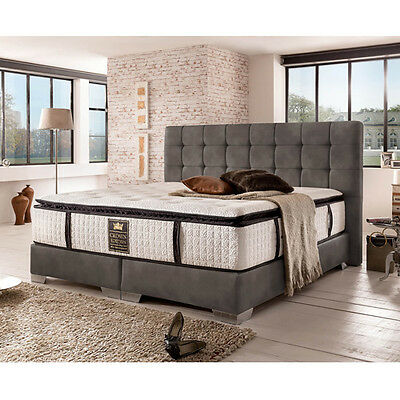 bugatti ii boxspringbett hotelbett amerikanisches bett 160 x 200 cm kunstl grau eur. Black Bedroom Furniture Sets. Home Design Ideas