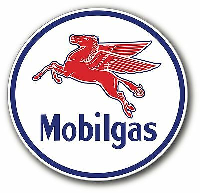 Super High Gloss Outdoor 4 Inch Mobil Mobile Gas Pegasus Round Decal Sticker