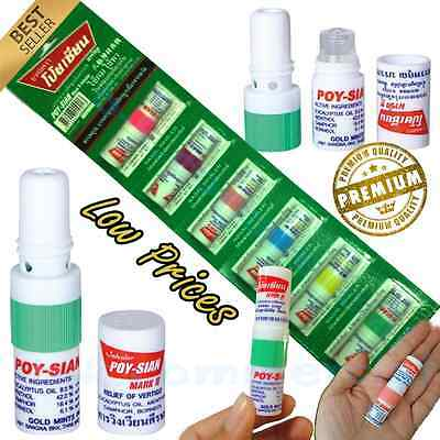 6Best PCS POY SIAN MARK 2 II NASAL SMELL DIZZINESS INHALER BRACING BREEZY ASTHMA