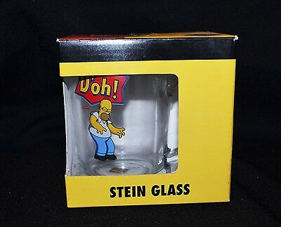 The Simpsons Homer Stein Glass 2009 Brand New In Box