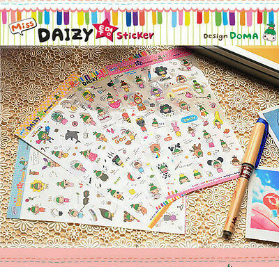4 sheet girl decorate calendar diary planner albums notebook PVC stickers
