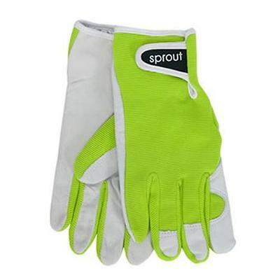 Sprout Lime Green Ladies Goat Skin Soft Leather Garden Gloves Gardening New