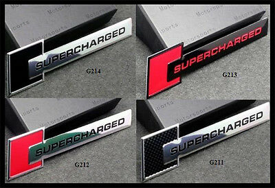 2 X SUPERCHARGED Emblem Badge stickers for Audi,Land/Range Rover,Holden,BMW,Ford