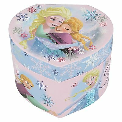 Disney Frozen Elsa and Anna Heart Shape Jewellery Box The Style WD16225