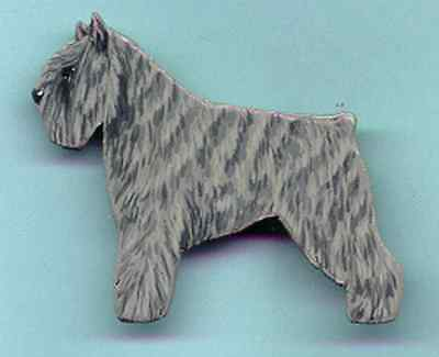 BOUVIER Des FLANDRES Wooden Dog PIN - Hand Crafted !!
