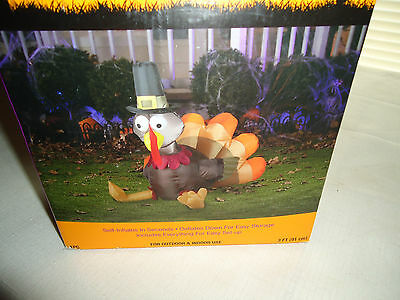 Set of 3 baskets with turkey decorations m3256 for Airblown turkey decoration