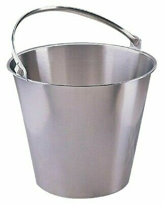 Stainless Steel Bucket Bar, Cellar, Catering, Kitchen Food Safe Bucket 12 Litre