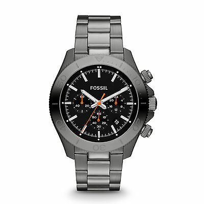 FOSSIL  RETRO TRAVELER  CHRONOGRAPH Black Watch  CH2864 Stainless Steel Stripe