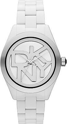 DKNY    ANALOG White Watch  NY8754 Resin Stripe