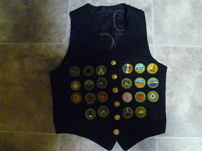 Vintage 1960s  BSA Boy Scouts of America Vest with 27 patches
