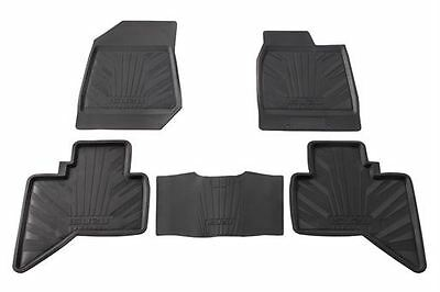 Genuine Isuzu D-MAX Rubber Floor Mats Set Front & Rear Tailored Fit High Quality