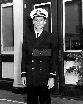 John F US Navy Lt Kennedy with PT-boat officers 1943 JFK New 8x10 Photo