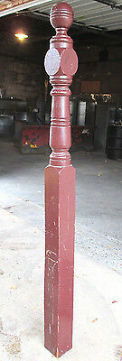 ~ Antique Oak Newel Post 1 Of 2 ~ 69 Tall ~ Upper Floor~ Architectural Salvage ~