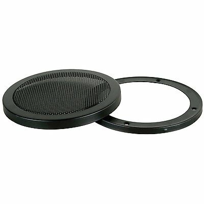 """4.5"""" UNIVERSAL 2-PIECE STEEL / METAL MESH SPEAKER GRILL with RING #MGR45"""