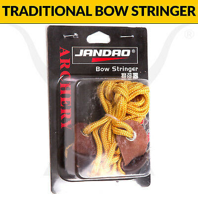 Traditional Bow Stringer - Suits Recurve and Longbows - Leather Pockets