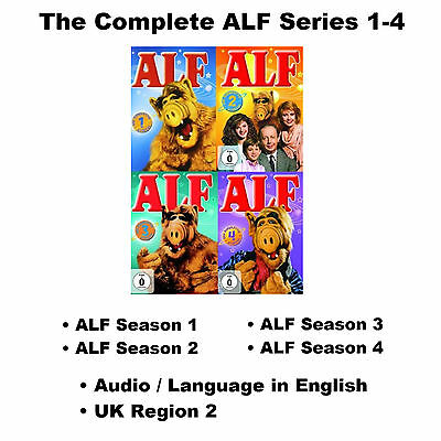 The Complete ALF Series 1-4 DVD Collection Seasons 1 2 3 4  Max Wright NEW R2 UK