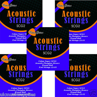 Coban Guitars New Great Value 50 packs Of SCG2 Acoustic strings 12-52