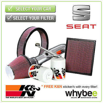 SEAT Ibiza 2003- All K&N KN Performance Filters inc Air, Oil & Intake Kits - New