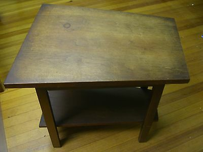 Mid Century Two Tiered Trapezoid Side or End Table - No Makers Mark