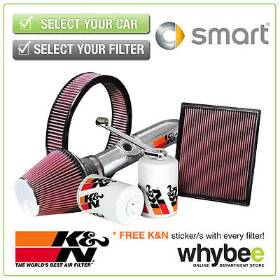 SMART Fortwo All K&N KN Performance Filters inc Air, Oil & Intake Kits - New!