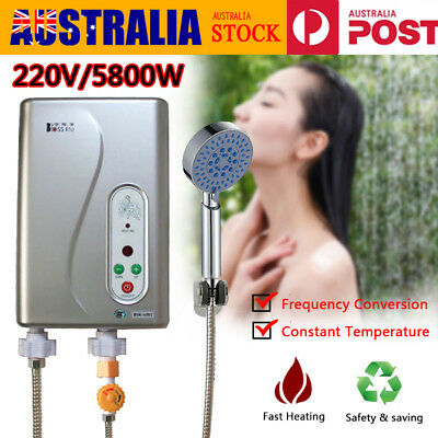 5800W Portable Instant Electric Hot Water Heater Camp Caravan Horse Dog Wash AU