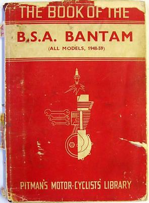 The Book of the BSA Bantam- Motorcycle Owners Handbook -1959 -#G.4219 PITMANS