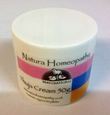 Thuja Cream 50g for horse warts and sarcoids by Natura Homeopathy