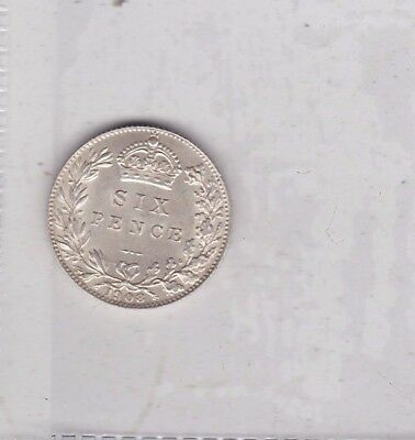 1908 Edwardian Sixpence In Near Perfect Condition