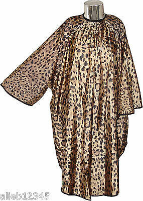 Leopard Print Hairdressing Gown with sleeves