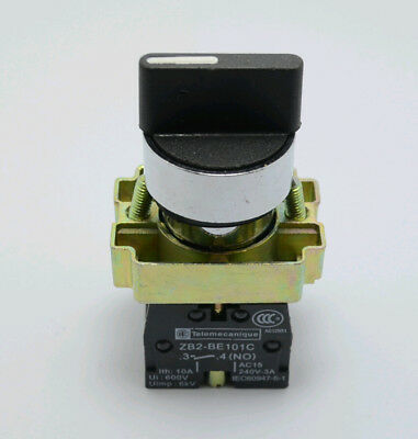 XB2BD53C 2NO 3 Positions Momentary Spring Return Select Selector Switch