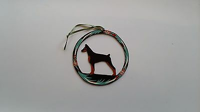 NEW DOBERMAN CHRISTMAS ORNAMENT-Cropped Ears