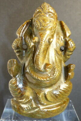 Huge Real Tiger's Eye Ganesh Carving. 716 Cts.