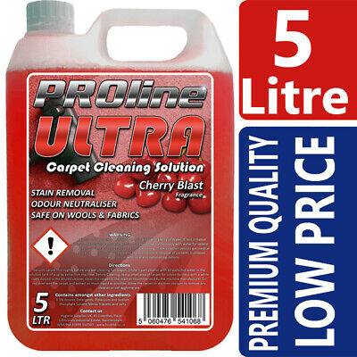 Carpet Cleaning Shampoo Solution 5ltr Pet odour eliminator Very Cherry low Foam