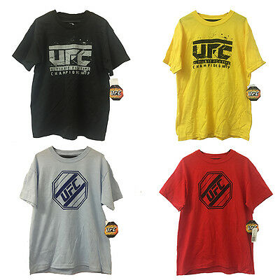 New Boys MMA UFC Fighting T-Shirts -Available in Yellow, Red, Blue & Black