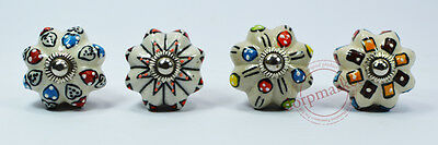 16 Pieces Gray & Multi Color Kitchen / dress Ceramic Knobs Cupboard drawer Pull