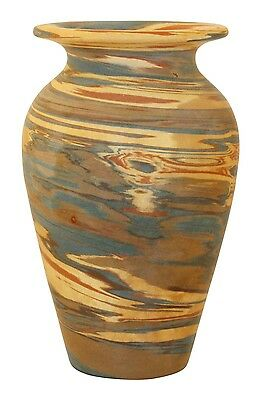 Niloak Pottery Mission Swirl Flaring Rim Vase (incised Niloak mark)