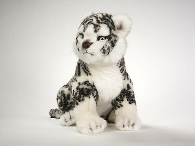 White Siberian Tiger Cub by Piutre, Hand Made in Italy, Plush Stuffed Animal NWT