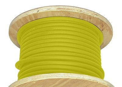 50' 2/0 AWG Welding Cable Yellow Flexible Outdoor Wire