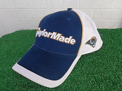 8cedd4582 TaylorMade Golf St. Louis Rams Mesh Back Navy White Adjustable Golf Hat Cap  NEW