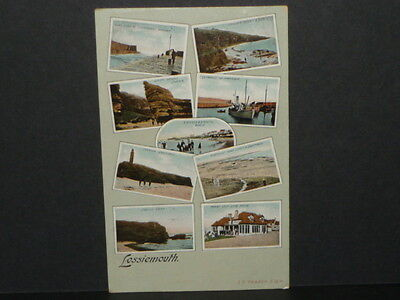 Scotland - Multy view card of  Lossiemouth - 1908