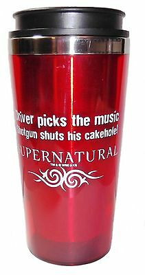 Supernatural Cakehole Stainless Steel Red Travel Mug(Awesome!)