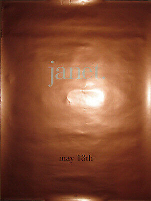 """JANET JACKSON """"Janet"""", copper text-only promotional poster, 1993, 18x24, VG"""