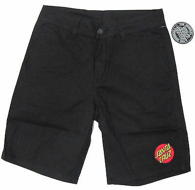 SANTA CRUZ - Classic Patch Walkshorts (Shorts) Black - SIZE 30 - NEW