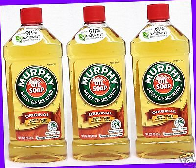 3 Murphy Pure Vegetable Oil SOAP Original Concentrated Wood Floor Cleaner 16oz e